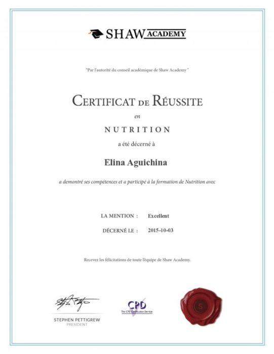 Diplôme nutrition