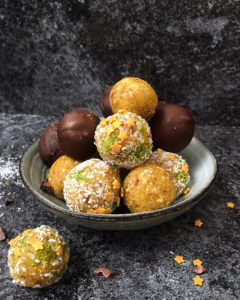 Bliss balls - Mangue, cajou, noix de coco et citron vert