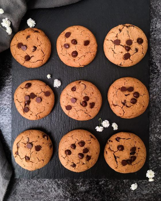 Cookies aux pépites de chocolat noir sans gluten