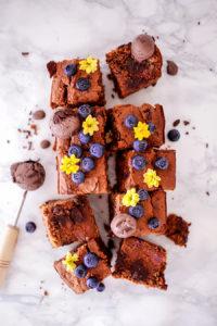 Brownie au chocolat vegan, sans gluten et sans sucres ajoutés