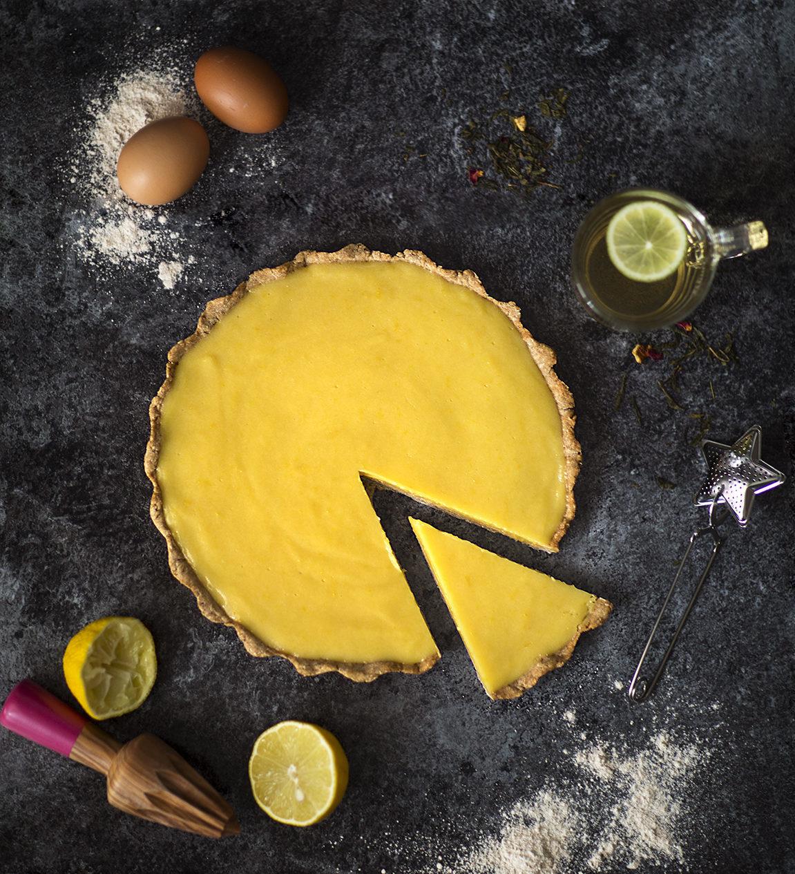 Tarte au citron sans gluten et sans sucre