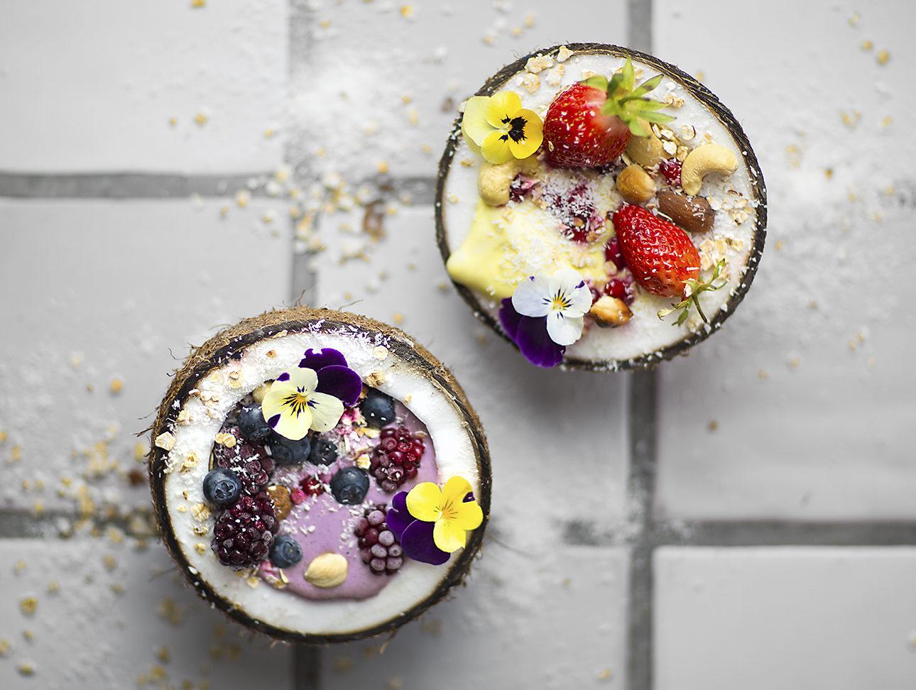 Glace maison exotique et aux fruits rouges (nice cream)